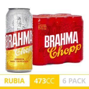 Cerveza Rubia Brahma Chopp 6-pack 473 Ml Lata